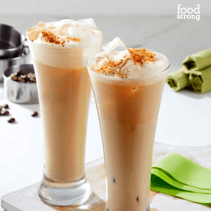 foodstrong shape shake cold coffee lite made with antibiotic free grassfed whey shake