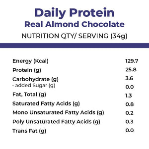 foodstrong daily protein real almond chocolate made with antibiotic free grassfed wheynutritionals