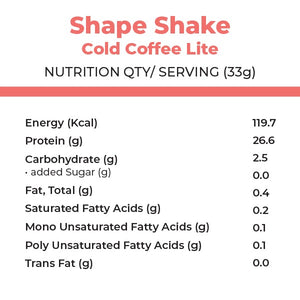 foodstrong shape shake cold coffee lite made with antibiotic free grassfed whey nutritionals