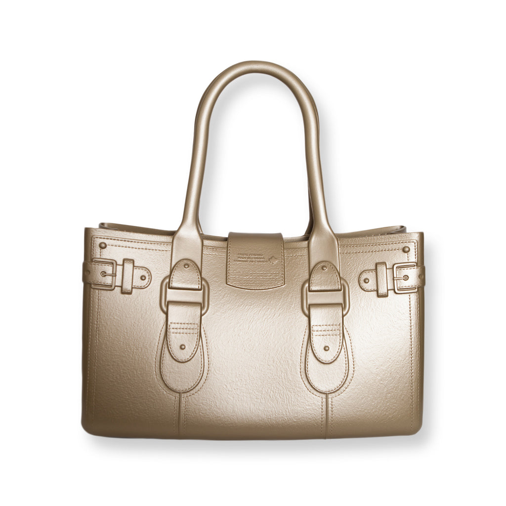 Model M. 24-K - Gold Tote Accessory (back view) Great Bag Co. | A Robert Verdi Project #FashionFlex #GreatBag