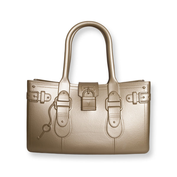 Model M. 24-K - Gold Tote Accessory (front view) Great Bag Co. | A Robert Verdi Project #FashionFlex #GreatBag