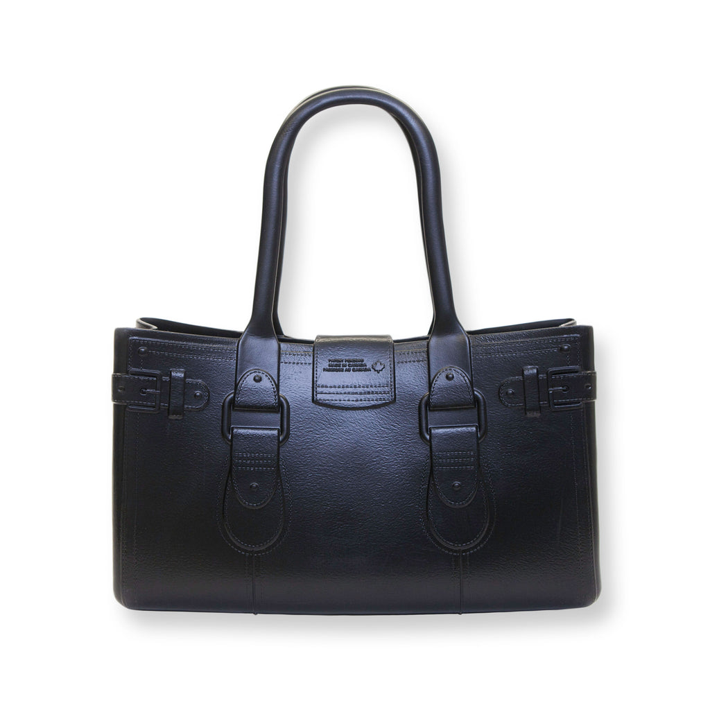 Model M. Onyx - Black Tote Accessory (back view) Great Bag Co. | A Robert Verdi Project #FashionFlex #GreatBag