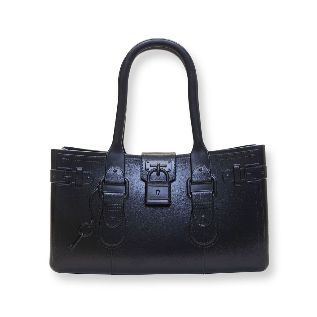 Model M. Onyx - Black Tote Accessory (front view) Great Bag Co. | A Robert Verdi Project #FashionFlex #GreatBag