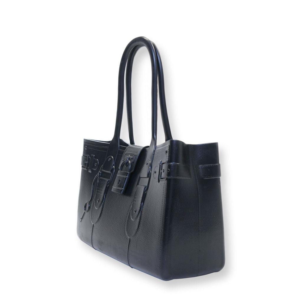 Model M. Onyx - Black Tote Accessory (side view) Great Bag Co. | A Robert Verdi Project #FashionFlex #GreatBag