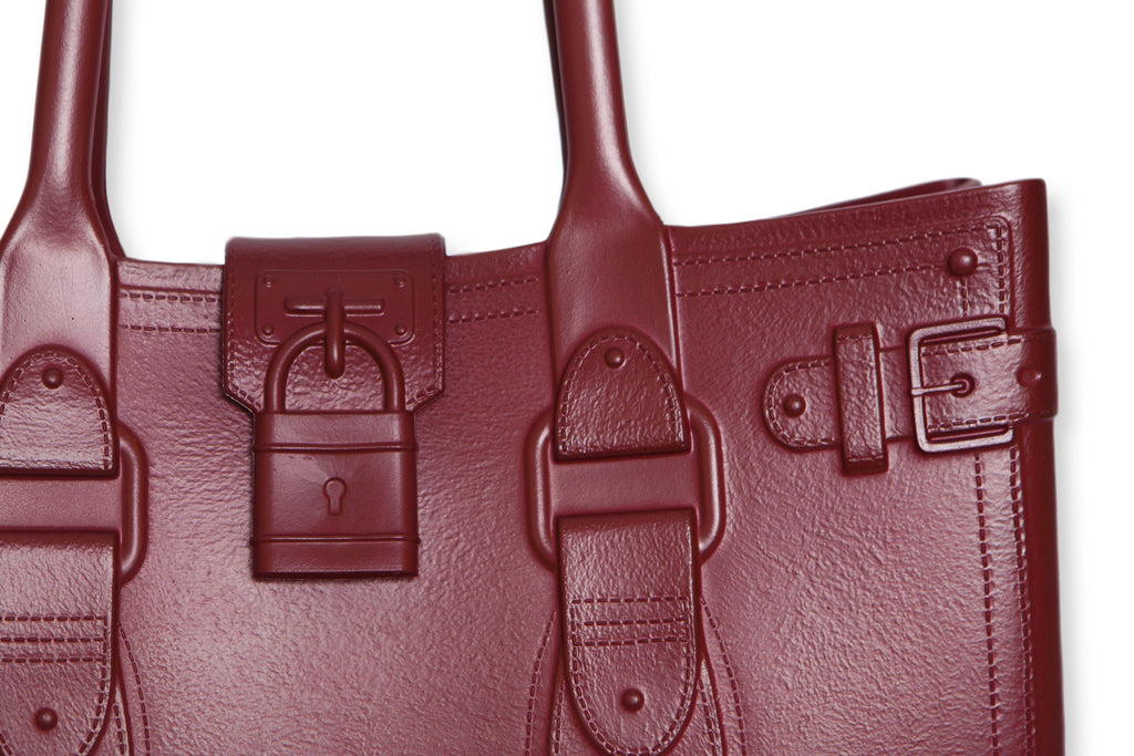 Model M. Garnet - Oxblood Red Tote Accessory (detail view) Great Bag Co. | A Robert Verdi Project #FashionFlex #GreatBag