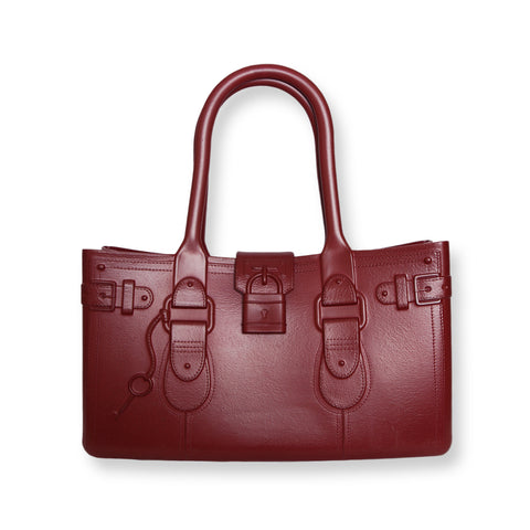 Model M. Garnet - Oxblood Red Tote Accessory (front view) Great Bag Co. | A Robert Verdi Project #FashionFlex #GreatBag