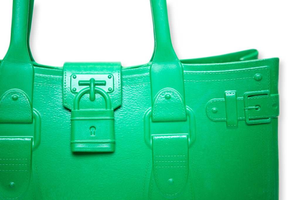 Model M. Emerald - Green Tote Accessory (detail view) Great Bag Co. | A Robert Verdi Project #FashionFlex #GreatBag