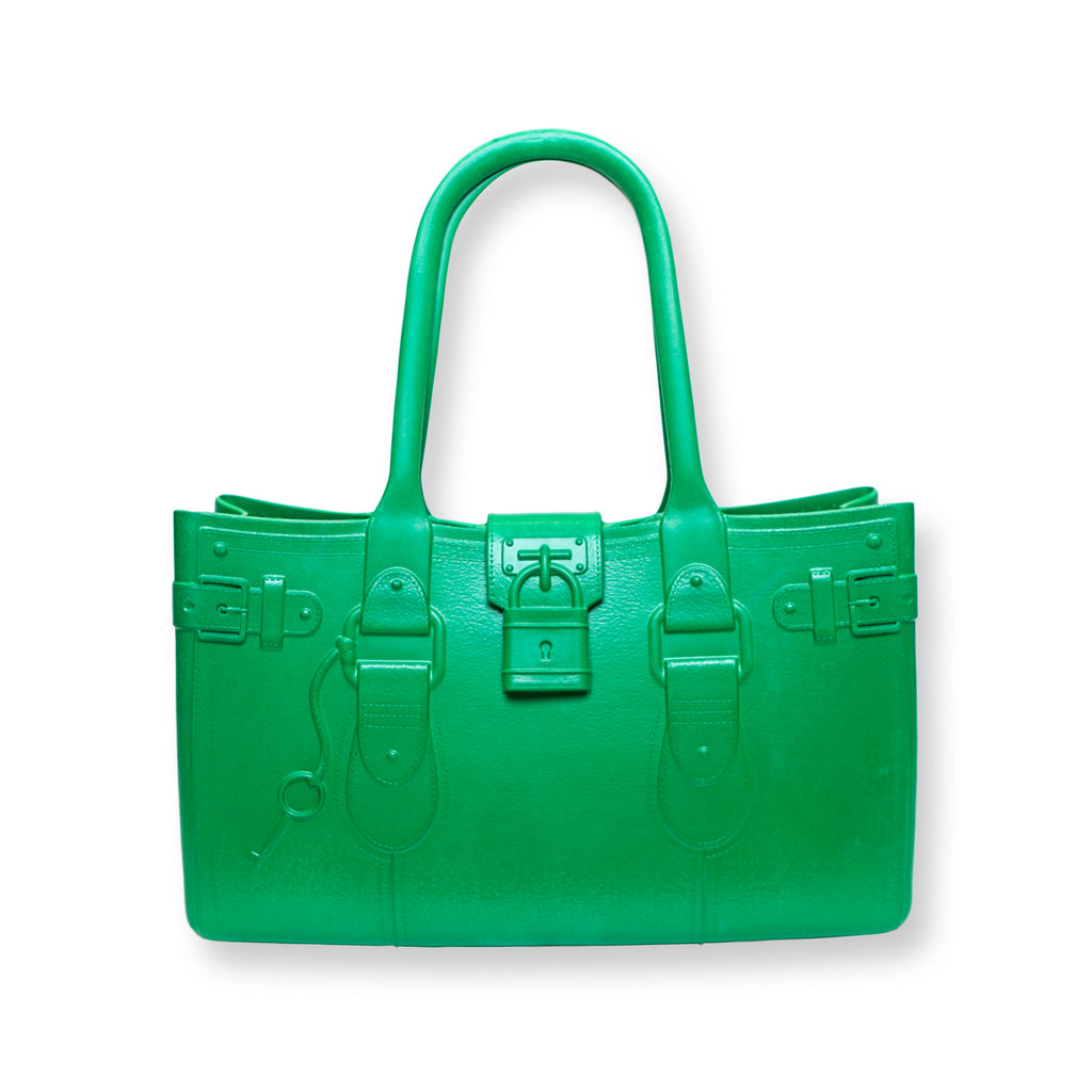 Model M. Emerald - Green Tote Accessory (front view) Great Bag Co. | A Robert Verdi Project #FashionFlex #GreatBag