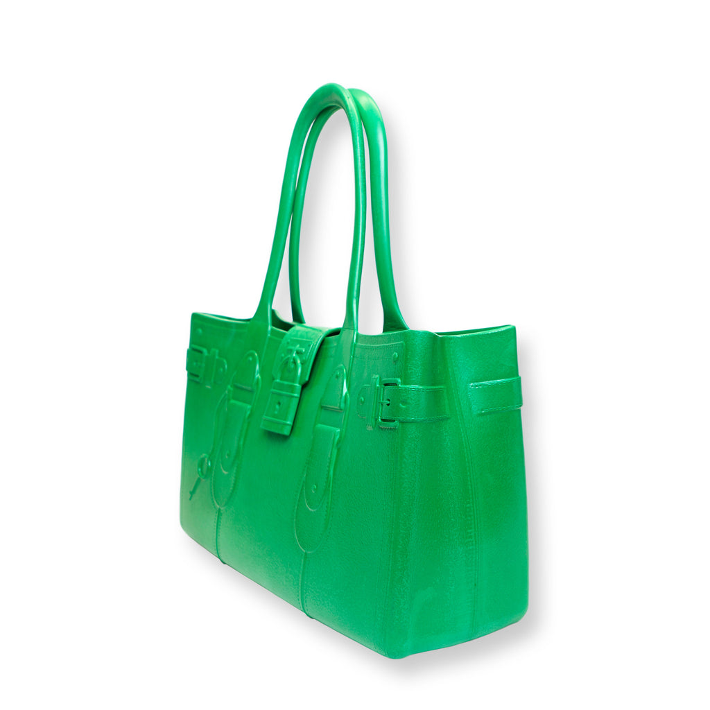 Model M. Emerald - Green Tote Accessory (side view) Great Bag Co. | A Robert Verdi Project #FashionFlex #GreatBag
