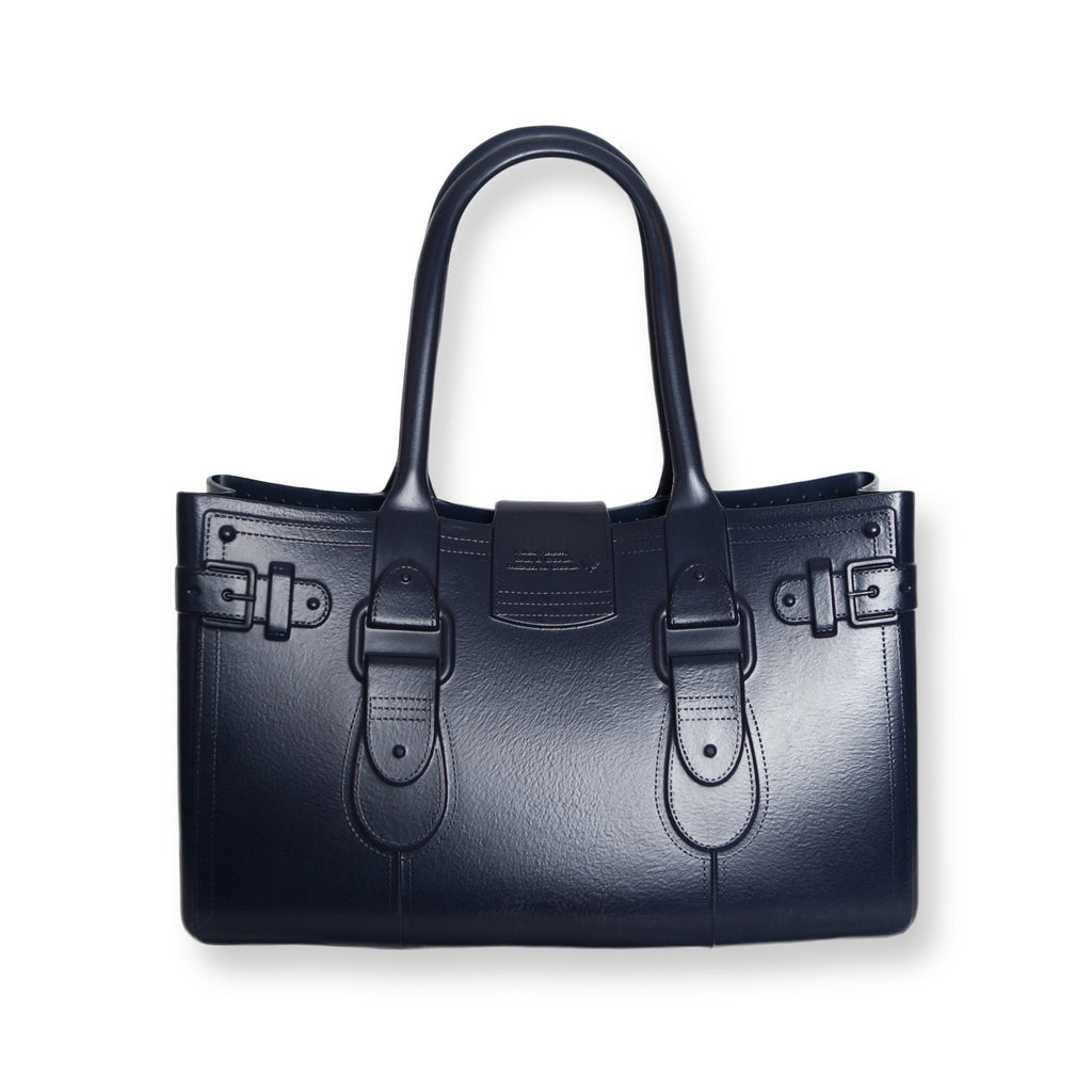 Model M. Sapphire - Navy Blue Tote Accessory (back view) Great Bag Co. | A Robert Verdi Project #FashionFlex #GreatBag