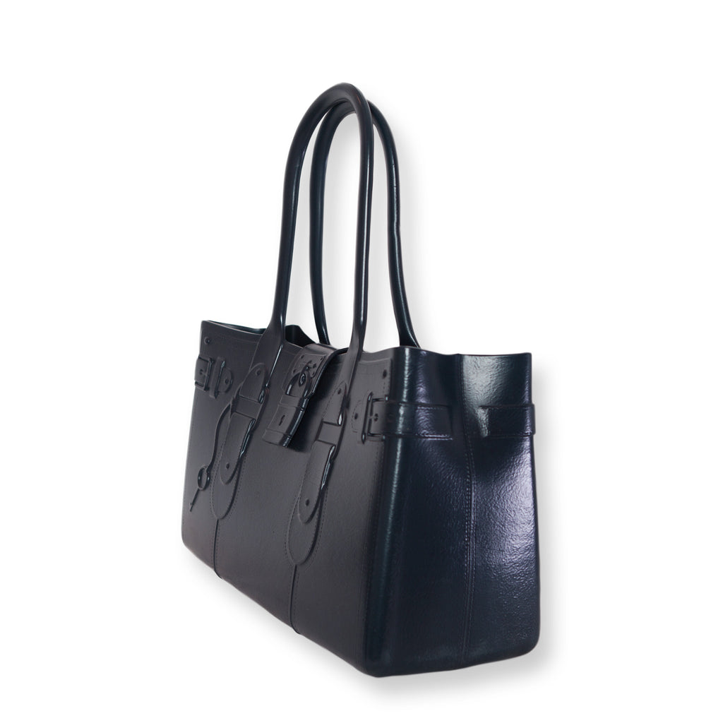 Model M. Sapphire - Navy Blue Tote Accessory (side view) Great Bag Co. | A Robert Verdi Project #FashionFlex #GreatBag