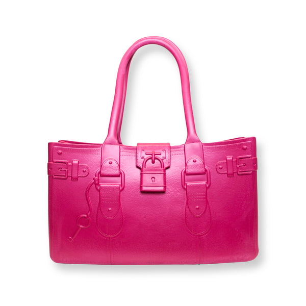 Model M. Tourmaline - Pink Tote Accessory (front view) Great Bag Co. | A Robert Verdi Project #FashionFlex #GreatBag