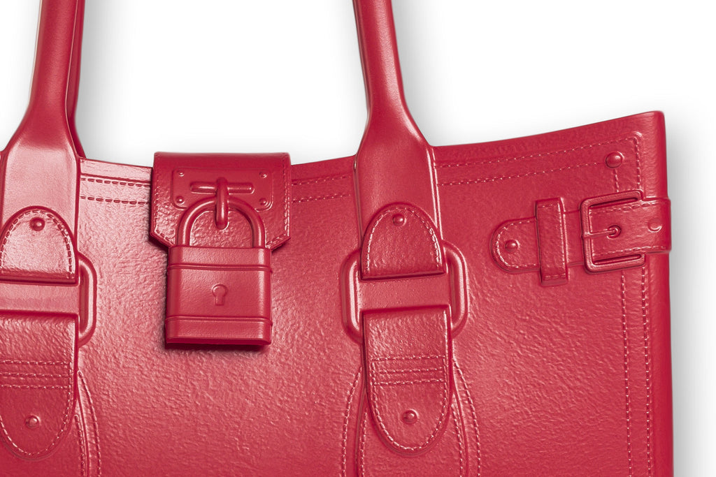 Model M. Ruby - Red Tote Accessory (detail view) Great Bag Co. | A Robert Verdi Project #FashionFlex #GreatBag