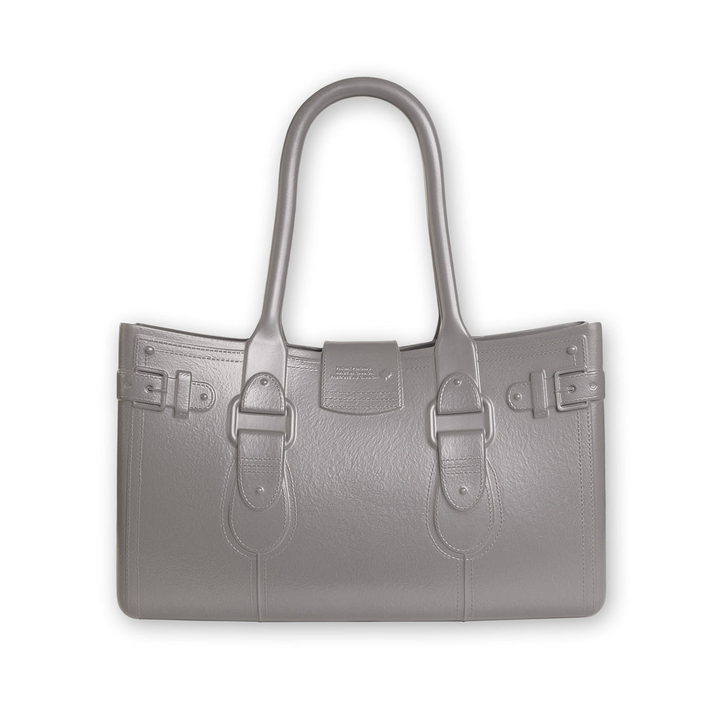 Model M. Steel - Grey Gray Tote Accessory (back view) Great Bag Co. | A Robert Verdi Project #FashionFlex #GreatBag