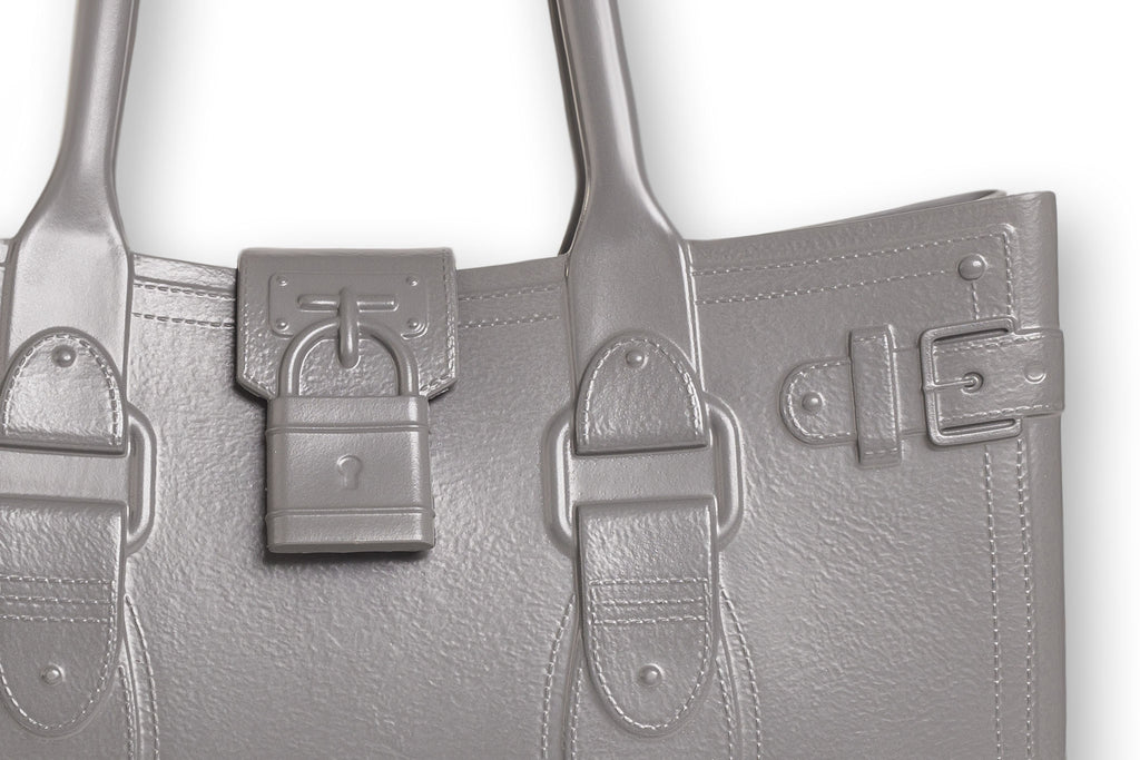 Model M. Steel - Grey Gray Tote Accessory (detail view) Great Bag Co. | A Robert Verdi Project #FashionFlex #GreatBag
