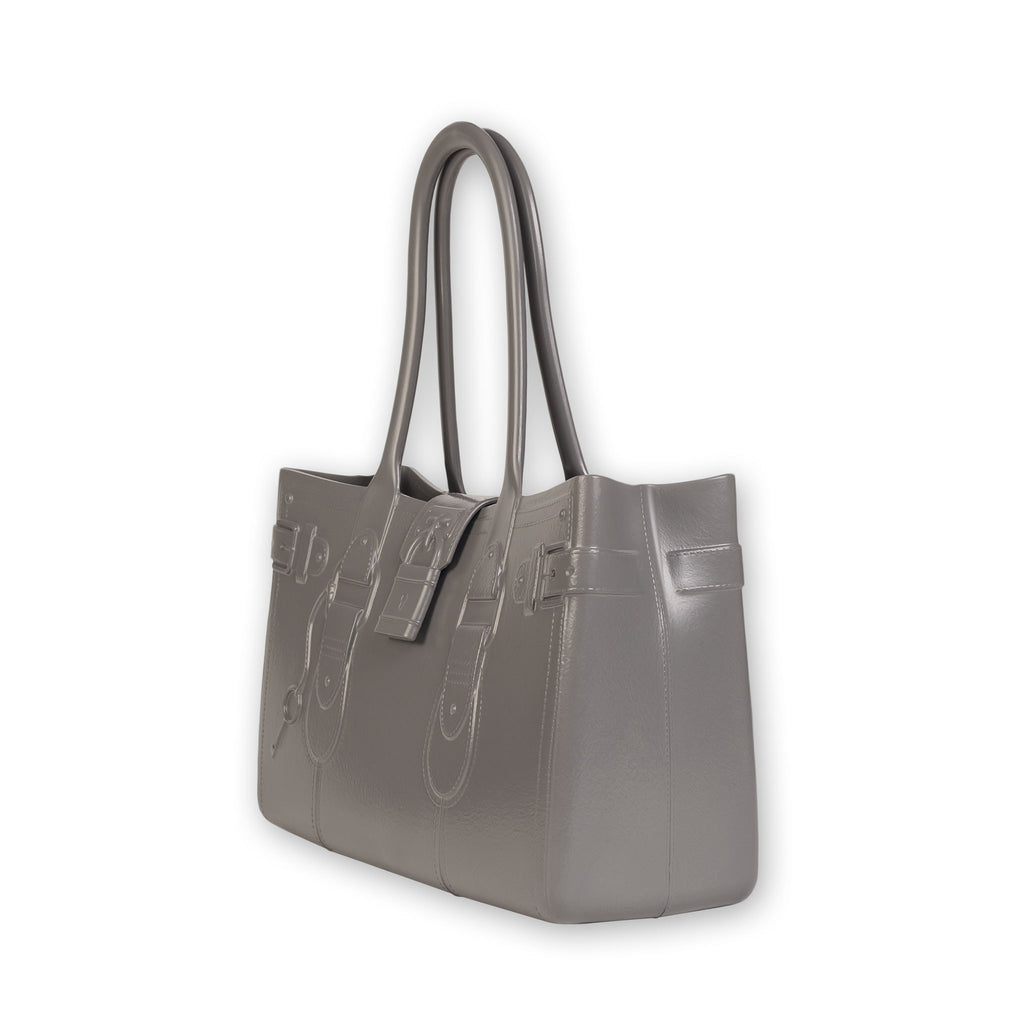 Model M. Steel - Grey Gray Tote Accessory (side view) Great Bag Co. | A Robert Verdi Project #FashionFlex #GreatBag