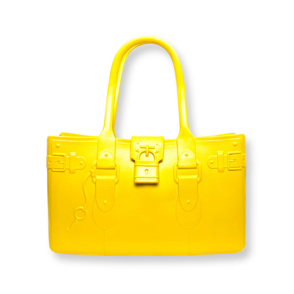 Model M. Citrine - Yellow Tote Accessory (front view) Great Bag Co. | A Robert Verdi Project #FashionFlex #GreatBag