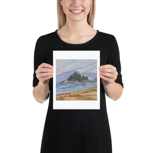 Pocket Beach - Yvonne Dale Watercolours