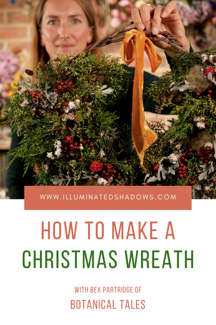 Wreath making Pinterest post