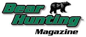 Bear Hunting Magazine Window Decal