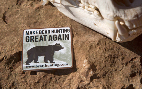 """Make Bear Hunting Great Again"" Sticker"