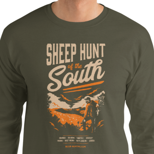 Sheep Hunt of the South | Men's Long Sleeve Shirt