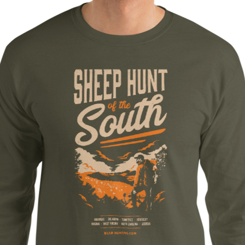 NEW! Sheep Hunt of the South | Men's Long Sleeve Shirt