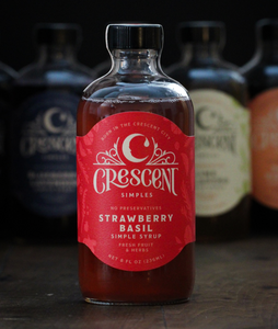 Strawberry Basil - Flavored Simple Syrup