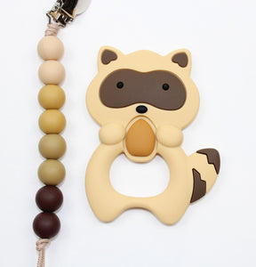 Racoon Teether + Clip Set