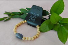 Load image into Gallery viewer, Wood & Sodalite Bracelet