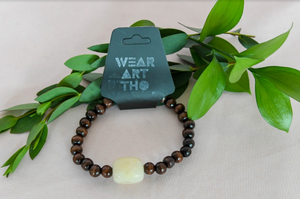 Wood and Quartz Stone Bracelet