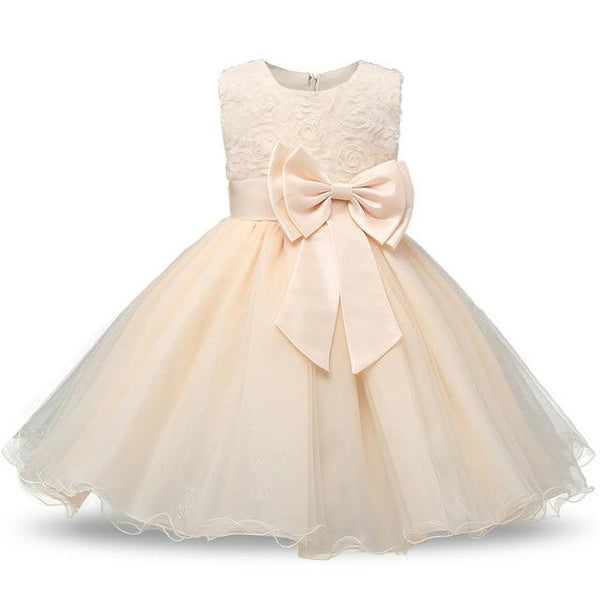 1-12 Years Sequin Girl Baptism Dress 2018 New Sleeveless tutu Big bow Kid Dresses Girls Clothes Party Princess Birthday