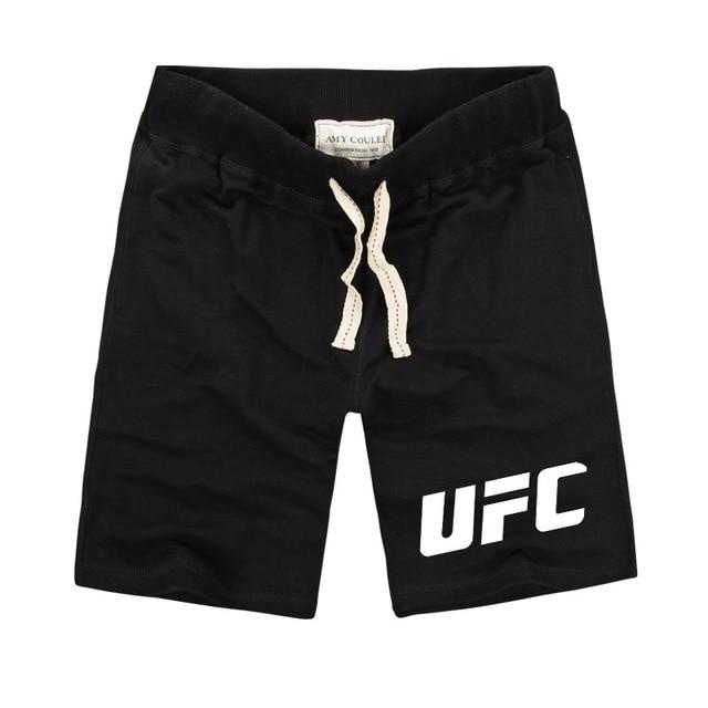 UFC MMA LIFE Fight Ultimate Fighting Championship Printed Shorts Men Fitness Clothing Pure Cotton Muay Thai Men's Shorts Train
