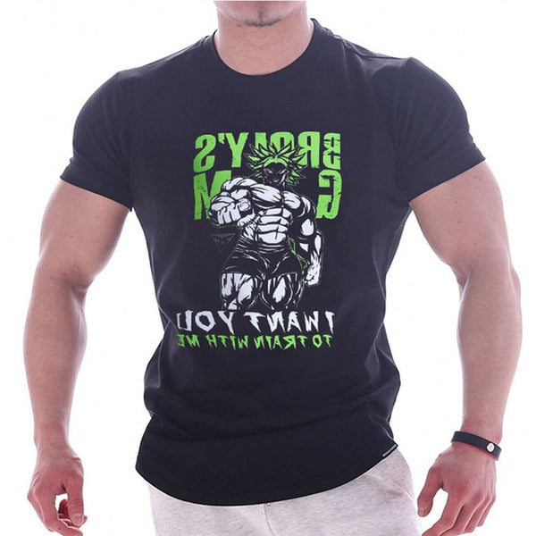 Mens Skull Printed t shirt Summer Gyms Fitness Bodybuilding Workout Cotton T-Shirts Male Casual Skinny Tees Tops Brand Clothing