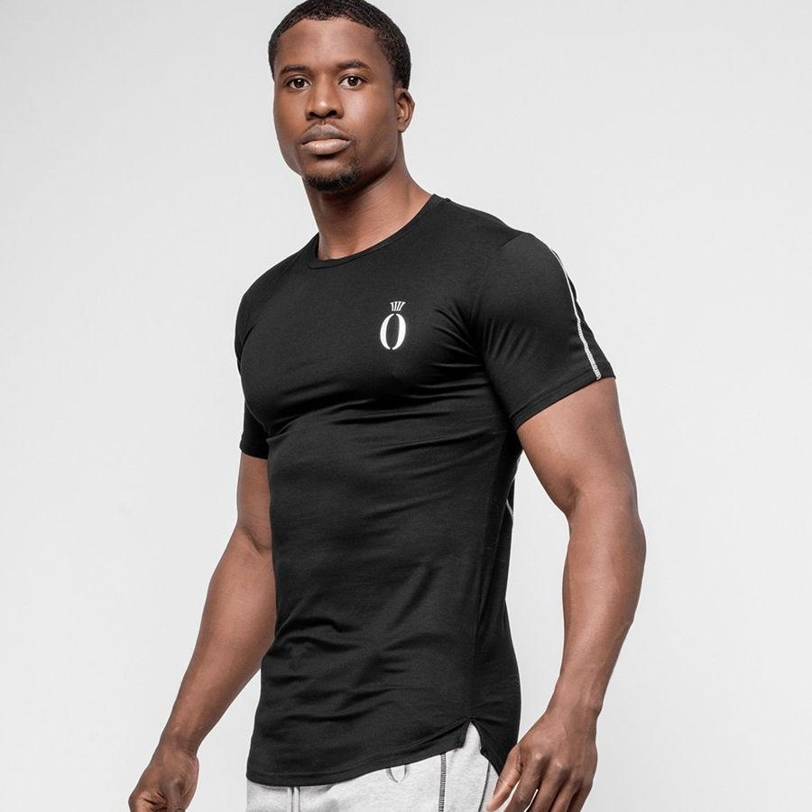 Summer Mens Short sleeve Cotton Skinny t shirts Casual Gyms Fitness Bodybuilding Workout Tees Tops Male Crossfit Brand Clothing