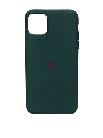 iPhone 11 Silicone Green iPhone Case By Treemoda