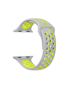 LULLABY IWATCH Strap with Ventilation Holes Silicon Strap Grey & Green