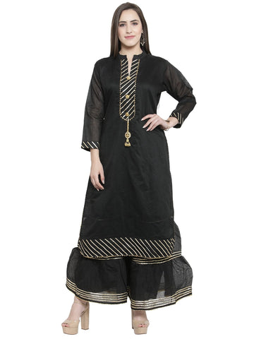 Designer Kurti with Palazzo Bottom Set For wedding & occasions by Treemoda