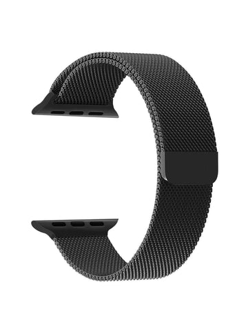 Stainless Steel Watch Strap for Apple Watch Series 5/4/3/2/1(Black)