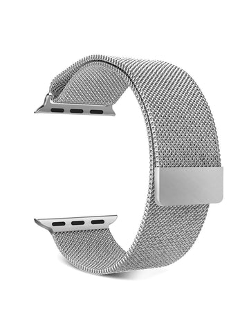 Market Affairs Stainless Steel Milanese Strap Band with Magnetic Closure Compatible with iWatch 42MM/44MM
