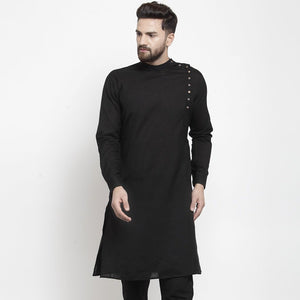 black linen kurta for men