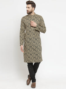 printed kurta for men