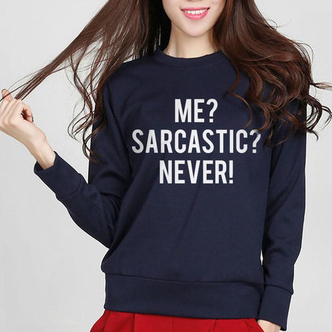 2018 Autumn Cotton Funny Casual Street Fleece Hoody For Lady Hipster Hoodies Me Sarcastic Never Letters Print Women Sweatshirt