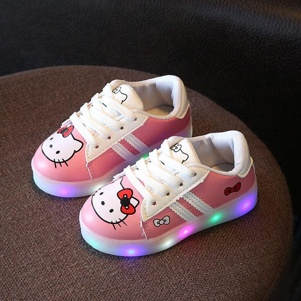 Hello Kitty LED Shoes Kids Luminous Casual Sneakers For Kids