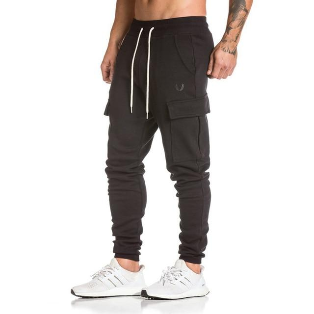 New Men Pant Casual Fashion Sweatpants Male Gyms Fitness Warm Cotton Trousers Sportswear Jogger Brand Pencil Pants