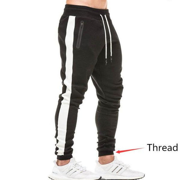 2018 Autumn New Men Fitness Sweatpants Male Gyms Workout Cotton Trousers Pant Casual Fashion Joggers Sportswear Pencil Pants