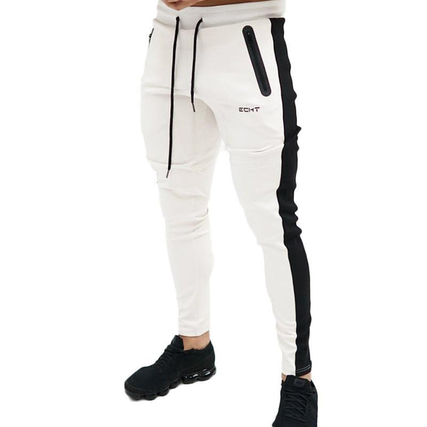 Autumn New Mens Cotton Jogger Sweatpants Gyms Fitness Workout Trousers Male Casual Fashion Skinny Pencil Pants Sportswear
