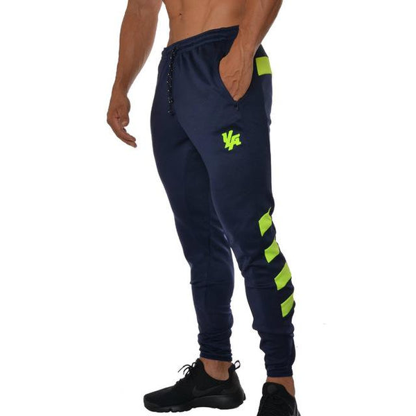 2019 Autumn New Mens Jogger Sweatpants Man Gyms Workout Fitness Patchwork Cotton Trousers Male Casual Fashion SlimTrack Pants