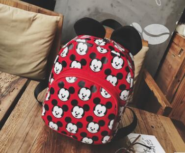 Fashion Mickey Shape Kindergarten Backpack Kids Bag Quality Nylon Small School Bags for  Preschool Bags