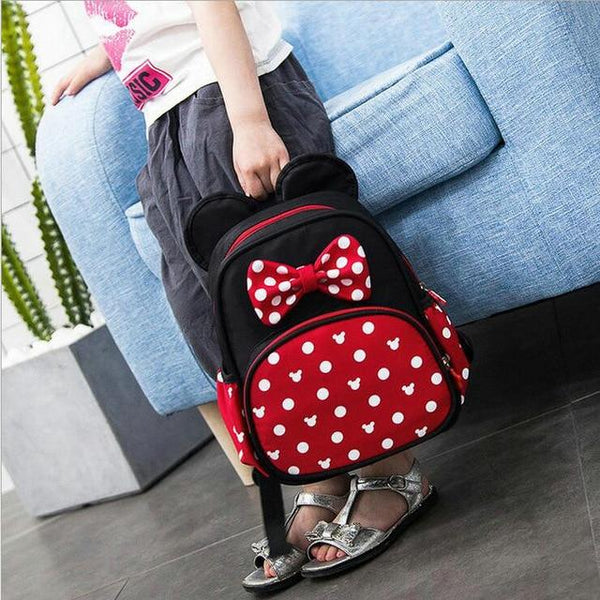 2019 New Fashion Kindergarten schoolbags kids minnie boys and girls backpack baby school bags